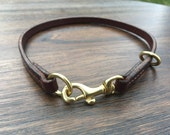 Bridle Leather Dog Tag / Slip Collar Combo