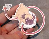 Space Pug Vinyl Sticker