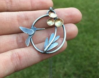 Hummingbird Blossom Necklace
