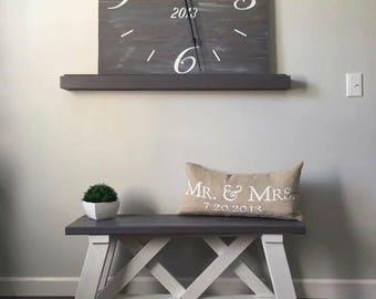 Custom farmhouse style clock