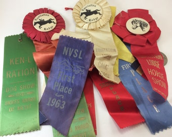 Prize ribbon awards Equestrian Dog Show Swimming placement 1st place 2nd place
