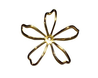1  Antique Gold Flower, Stamping, 57 mm