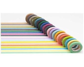 Sets of 20 Rolls  Light Color & Dull Color Japanese Washi Tape Masking Tape Sim Type  (MT20P002)