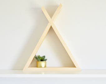 The Tepee Shelf | Bare Finish