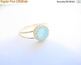 Mothers Day Sale - Opal gold ring - gold ring with opal stone - gold ring - stackable ring - vintage turquoise ring - bridal jewelry - pacif