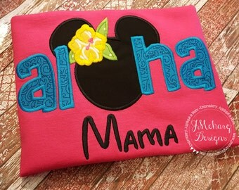 Aloha Custom embroidered Disney Inspired Vacation Shirts for the Family! 771