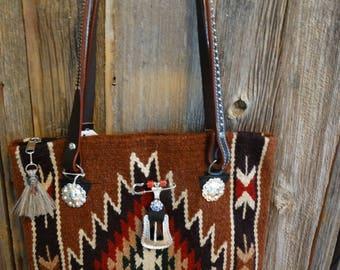 Navajo blanket Western bag