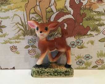 Vintage China Deer 1950s Kitsch Cute Bambi