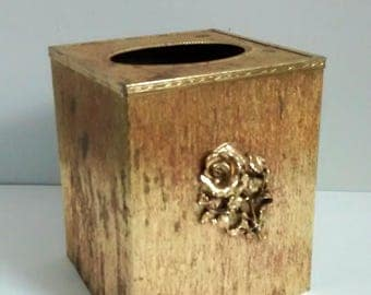 Vintage Gold Tissue Box