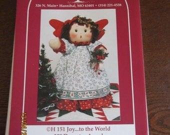"""Joy to the World 22"""" Doorstop Angel"""