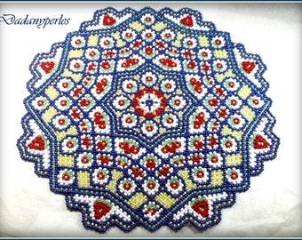 pattern bead weaving doily  grany