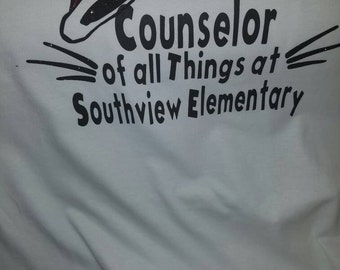Size medium school counselor shirt