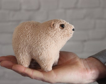 Made to order! Rock Hyrax  - rock badger - Cape hyrax - stuffed toy - 1 pc - soft toy plush animals