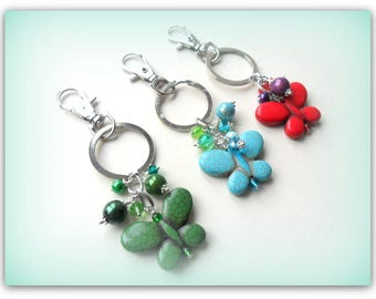 Vintage Butterfly Children's Charm Key Fob Butterfly Charm Gift UK Shop
