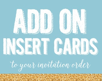 Add on order - Insert cards for invitation order