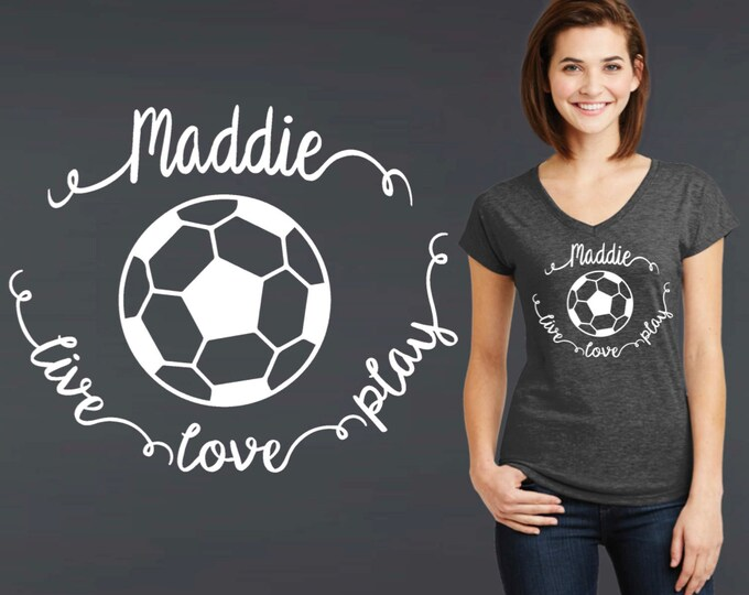 Soccer Tee   Soccer T-shirt   Custom Soccer Shirt   Custom T-shirts   Personalized T-shirts   Inspirational T-shirt   Korena Loves