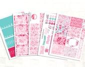 Happy Planner Lovely Roses Sticker Kit, Vinyl Stickers, Valentine's Day
