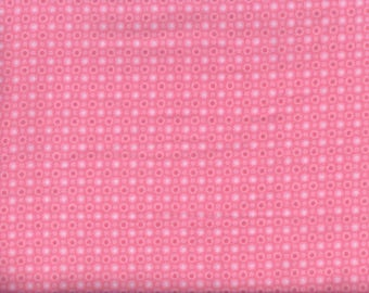 Cuddle Bugs Monotone Dot Flannel Fabric - pink - Shelly Comiskey Henry Glass - by the continuous YARD