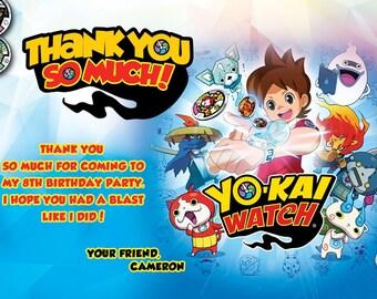 Yo Kai Watch Thank You Card