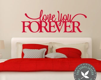 Love You Forever Vinyl Sign Wall Home Decor Decal Sticker