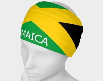 Jamaica head bands - Headband with Jamaican flag printed on Micro knit fabric