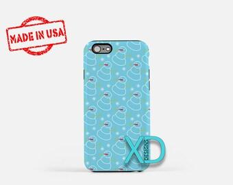 Snowman Phone Case, Snowman iPhone Case, Winter iPhone 7 Case, Blue, Winter iPhone 8 Case, Snowman Tough Case, Clear Case, Frosty, Snowball
