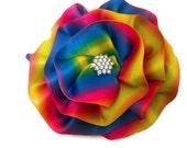 Rainbow Magnetic Brooch, Rainbow Corsage, LGBT Brooch, Gay Pride Jewelry
