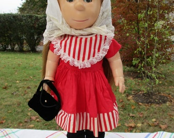 Poor Pitiful Pearl Doll Dressed in Red Holiday Dress 17 Inch by Glad Toy