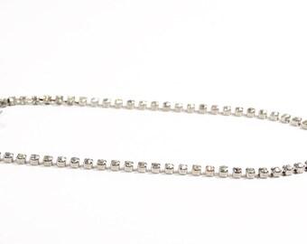 Single Band Rhinestone Choker, Vintage Rhinestone Necklace Choker