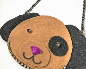 LilTUCK Puppy Dog Animal Purse - Kids Girls Cute Jeweled Designer Luxe Handbag Purse.. Cute gift idea! by Tuckbrand