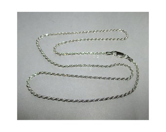 20 Inch ROPE Sterling Silver Chain 1.9 mm - ww1079
