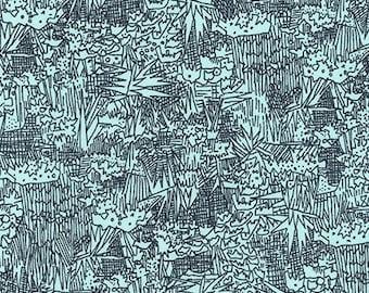 Cotton Lawn Carolyn Friedlander Fabric Green Wall in Aqua Cotton Voile Fabric Robert Kaufman Voile Aqua and Navy Lawn Apparel Fabric