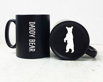 Carved Daddy Bear Mug/Daddy Bear Gift/Gift for Dad/Fathers Day Gift/Gift for Fathers Day/Engraved Gift/Mug Gift/Birthday Gift for Dad