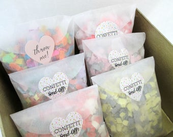 Wedding Confetti Send Off Confetti Bags Custom Confetti Bride & Groom Confetti Wedding Send-Off Wedding Guest Favors Bride and Groom