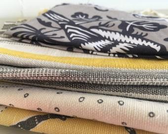 Fabric bundle of yellows and greys