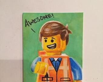 Original LEGO Movie Emmet Trading Card