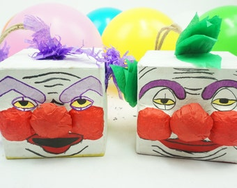 Pre-filled Pinata Treat Box Killer Klowns I Halloween Party |  Surprise Pinatas Set of 3 | Loot Bag | Fun Tabletops | Party Favors