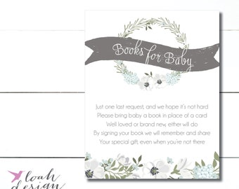Book for Baby Shower, Book Instead of Card, Derby Baby Shower, Kentucky Derby, Horse Baby Shower, Kentucky Derby Baby Shower //  PRINTABLE
