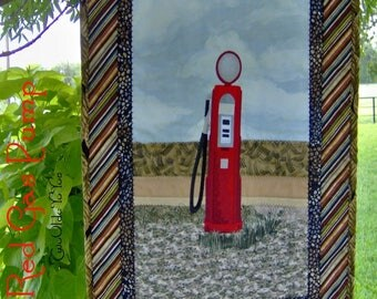 RED GAS PUMP, Vintage,  Western,  Country,  Farm Décor, Home Decor,  Man Cave,  Gift Item