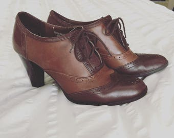 1940's styled oxford heels