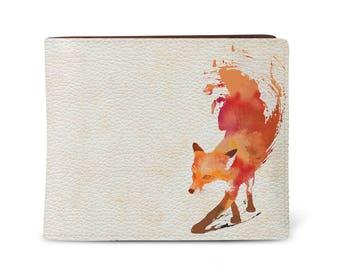 Men's vegan leather wallet, slim & compact design, made using 100% animal cruelty-free vegan leather 'Vulpes'