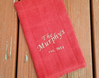 Personalized Kitchen towels- Set of 2