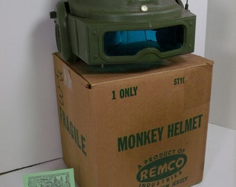 1960's Remco Monkey Division Salesman's Sample with Helmet,Box,Goggles and Emblem