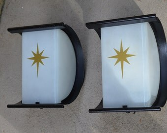 Vintage porch light etsy for Mid century modern exterior lighting