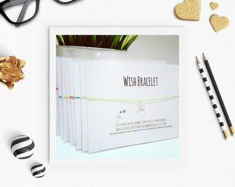 Star wish bracelet bulk buy, wish bracelet, heart charm, friendship bracelet, star charm, Gift for girls, Teacher Gift, party bag filler