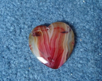 Striped Agate Heart Pendant