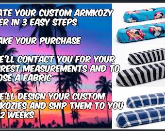 Custom Armkozy™ Wheelchair Armrest slip-cover  Order