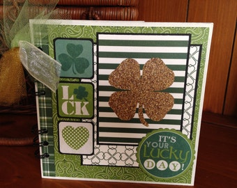 Completed scrapbook album-Luck of the Shamrock