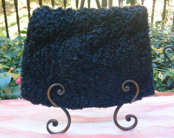 Persian Lamb Muff - Black, Luxurious - Vintage - Fabulous!