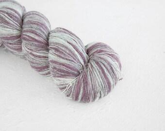 Knitting art wool  Grey Lila colors, Longstriped artistic wool. Aade Long - Grey-Lila  8/1